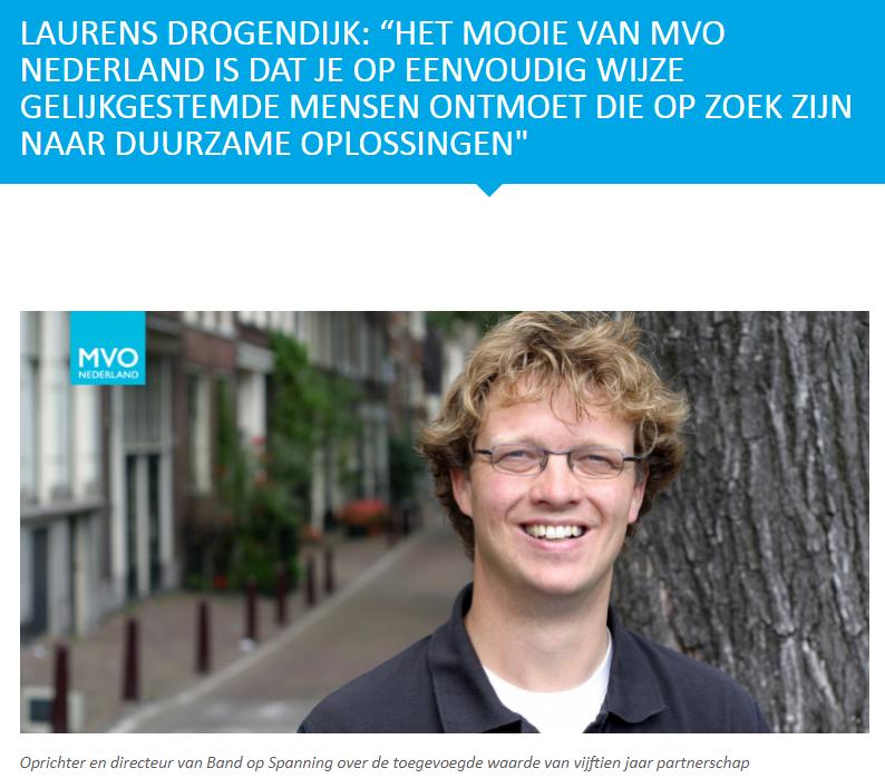 Interview MVO Nederland met Laurens Drogendijk